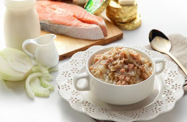 挪威鮭魚燴鮮奶珍菇 1